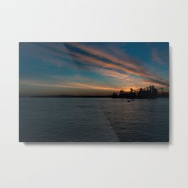 Sunset on The Mighty Mississippi Metal Print