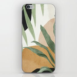 Abstract Art Tropical Leaves 4 iPhone Skin