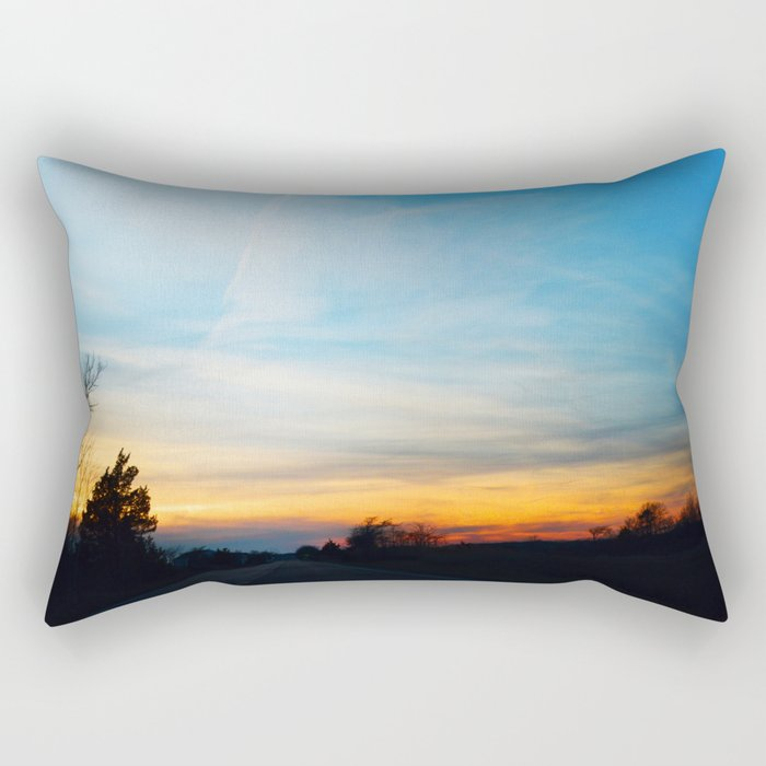 Sky Road Rectangular Pillow