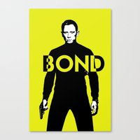 bond Canvas Prints featuring Bond by anoop