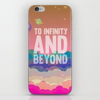 buzz lightyear iPhone & iPod Skins featuring to infinity and beyond.. toy story.. buzz lightyear by studiomarshallarts