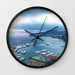Sorrento at Sunrise Wall Clock