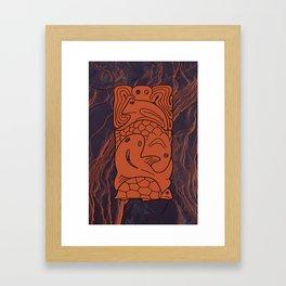 Totem Form Interplay Framed Art Print