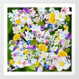 Flower mess Art Print