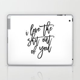 Love Sign,Love Quote,I Love You,I Love You More,Gift For Her,Gift For Him,Wall Art,Printable Art Laptop & iPad Skin
