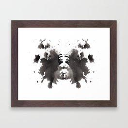 Rorschach test 1 Framed Art Print