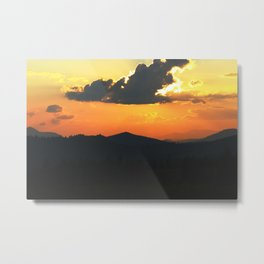 Mountain sunse Metal Print