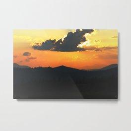 Mountain sunse Metal Print