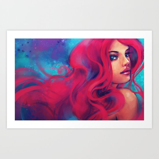 Daughter of Triton Art Print