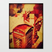 telephone Canvas Prints featuring Telephone  by Ukridge