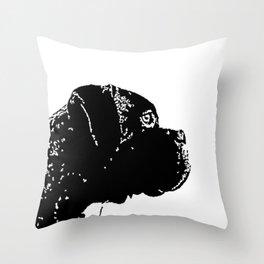 Love Boxer Dog Throw Pillow