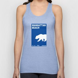 Manhattan Beach.  Unisex Tank Top