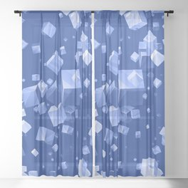 Colorful Cubes 5 Sheer Curtain