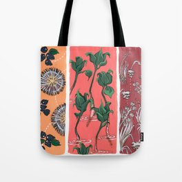Cool Hues on Warm Background Tote Bag