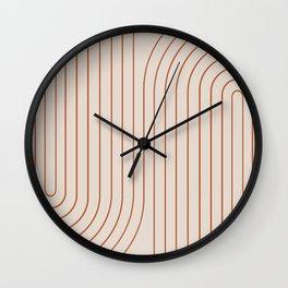 Minimal Line Curvature - Coral II Wall Clock