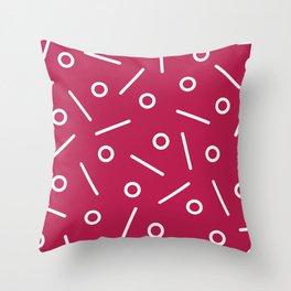 Fun Minimal Cerise Throw Pillow