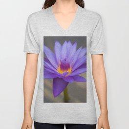 Purple Water Lily Unisex V-Neck
