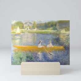 Pierre-Auguste Renoir The Skiff La Yole Nature Lake Scene Mini Art Print