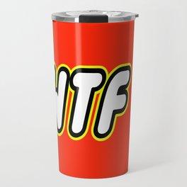 WTF in Brick Font Logo Design by Chillee Wilson Travel Mug