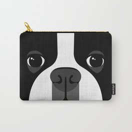 Boston Terrier Close Up Carry-All Pouch