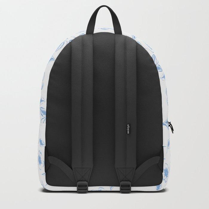romantic blue flowers pattern Backpack