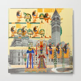 THE COLORFUL HIEROGLYPHICS AND THE MANOR HOUSE Metal Print