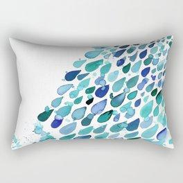 Inkdrops of Joy - Right Side Rectangular Pillow