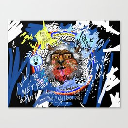 Gee The Party Wolf Remixed Canvas Print