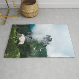 Flower Mountain in Switzerland - Landscape Photography Rug