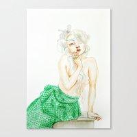 siren Canvas Prints featuring Siren by monika viktoria