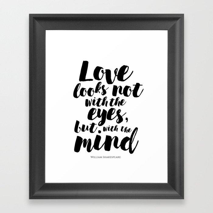 About love Framed Art Print