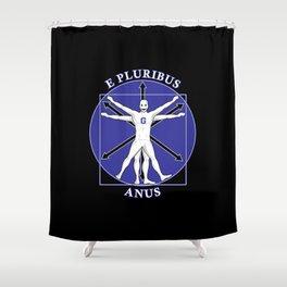Greendalian Man Shower Curtain