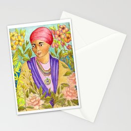 Woman With Adinkra Stationery Cards