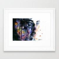 frozen Framed Art Prints featuring Frozen by agnes-cecile
