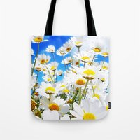 daisy Tote Bags featuring DAISY by Ylenia Pizzetti
