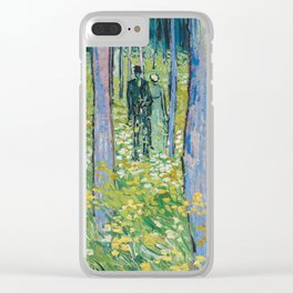 Undergrowth with Two Figures by Vincent van Gogh, 1890 Clear iPhone Case
