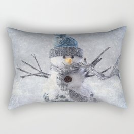 Cute snowman frozen freeze Rectangular Pillow