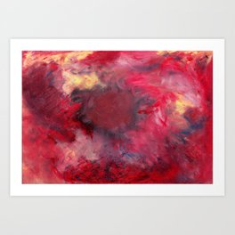 laer - oil pastels on mix media paper Art Print