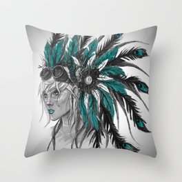Steampunk Chief Throw Pillow