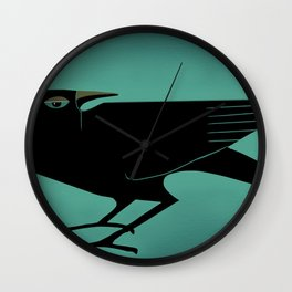 Odin's Ravens Huginn and Muninn Wall Clock