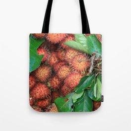 Rambutan Fruits background Tote Bag