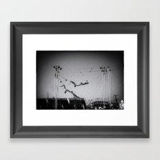 NOIR ACROBATICS III Framed Art Print