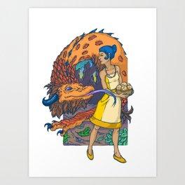 Begging for Treats Art Print