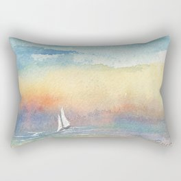 If the Wind is Right #Society6 #watercolor #ocean Rectangular Pillow