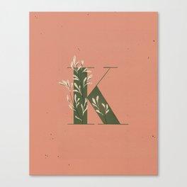K for Kangaroo Paw Canvas Print
