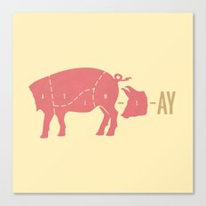 Pig Latin Canvas Print