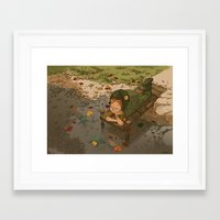 bouletcorp Framed Art Prints featuring La rivière aux tortues by Bouletcorp