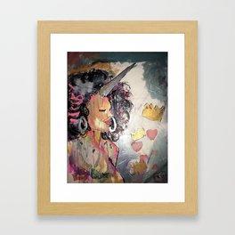 Black Unicorn: Sugar Oompa Loompa Framed Art Print
