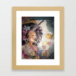 Black Unicorn: Sugar Oompa Loompa Framed Art Print