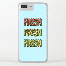 Fresh Watermelon, Cantaloupe Melon, Kiwi Clear iPhone Case